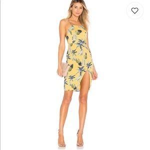 Majorelle yellow dress w/pineapples